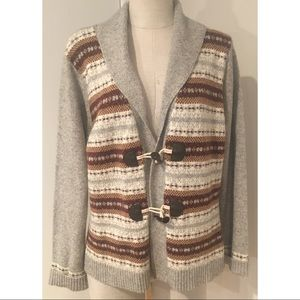 Eddie Bauer Shawl Neck Wool Cardigan Sweater